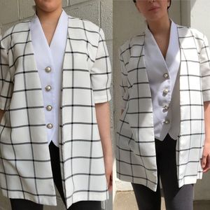 EUC Vintage Blazer/Vest top